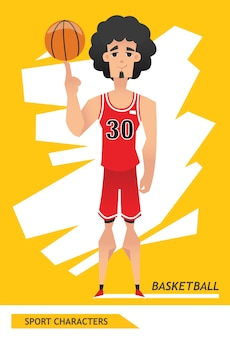 Sport characters basketball player