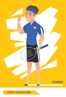 Sport characters tennis player
