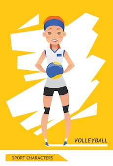 Sport characters volleyball player