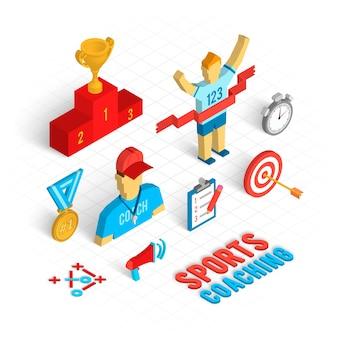 Sport coaching isometric set
