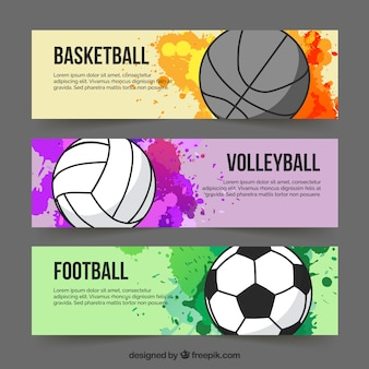 Sport colourful banners