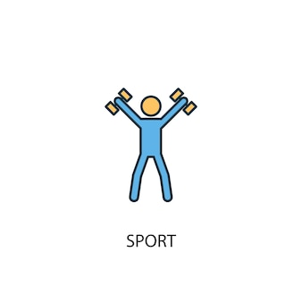 Sport concept 2 colored line icon. simple yellow and blue element illustration. sport concept outline symbol design