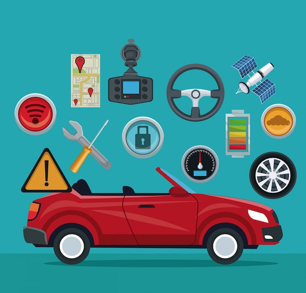 요소 위성 검색 스포츠 컨버터블 자동차