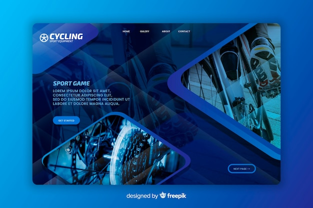 スポーツサイクリングのランディングページ