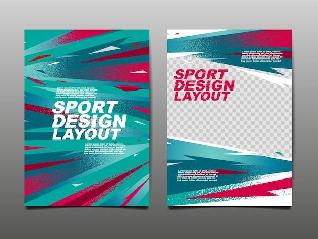 スポーツデザインレイアウト、テンプレートデザイン。