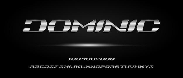 Спортивный цифровой современный футуристический алфавит с шаблоном городского стиля