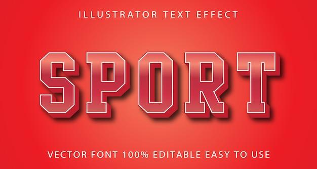 Sport editable text effect