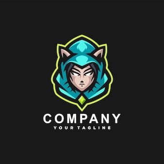 スポーツエルフのマスコットのロゴデザイン