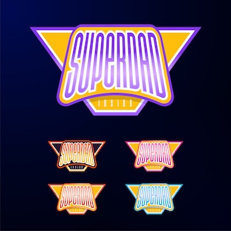 Sport emblem typography
