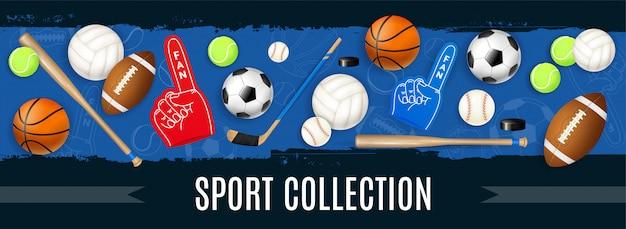 Sport equipment banner