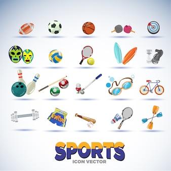 Sport equipments.