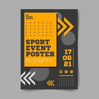 Sport event poster template with dots