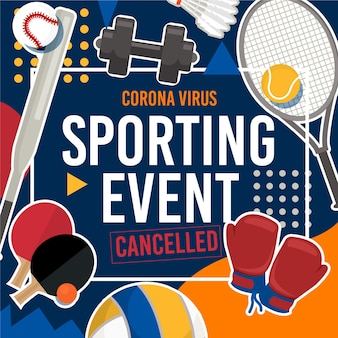 Sport events cancelled background