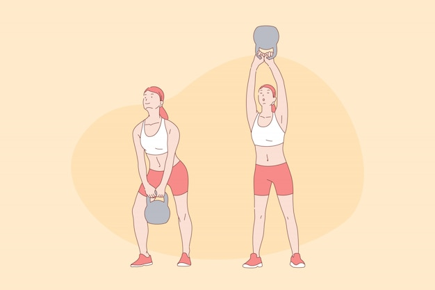 Sport exercises, workout, functional training, active lifestyle concept