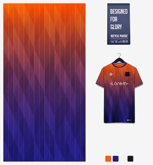 축구 유니폼을위한 스포츠 패브릭 패턴 디자인. 추상적 인 배경.