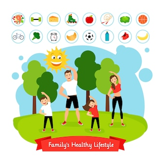 Sport family summer activity