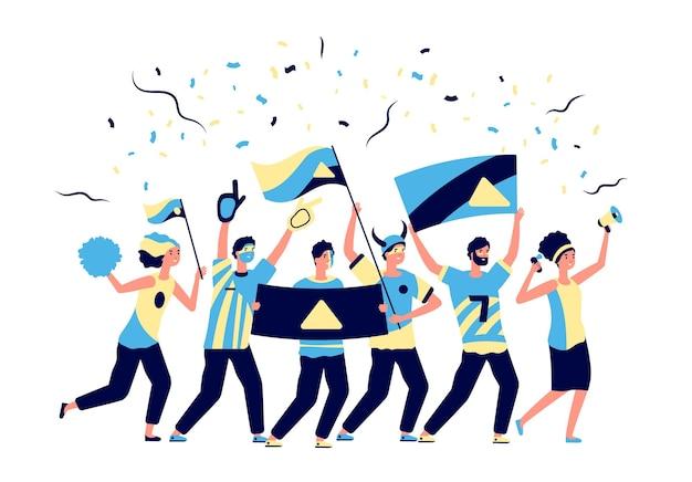 スポーツファン。大人のサッカー愛好家、サッカーチームと応援。