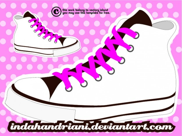 converse shoes vector free download