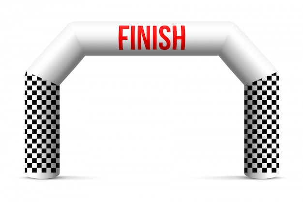 Sport finish line inflatable arch, archway.