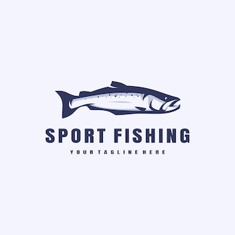 Sport fishing illustration