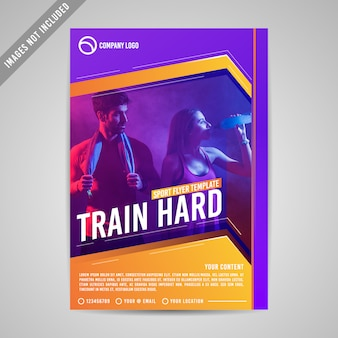 Sport fitness flyer template
