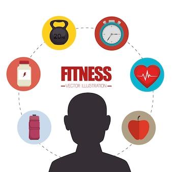 Спорт фитнес здорового образа жизни изолированных