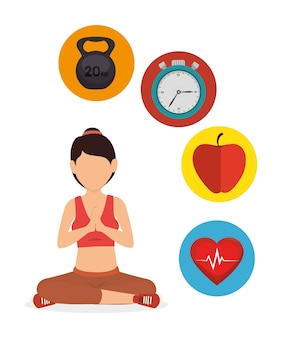 Спортивный фитнес здоровый образ жизни