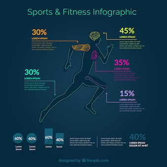 Sport and fitness infography