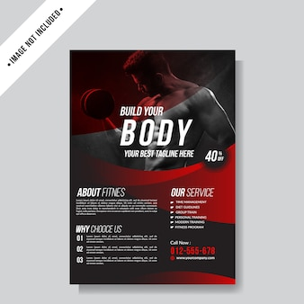 Sport flyer layout background template