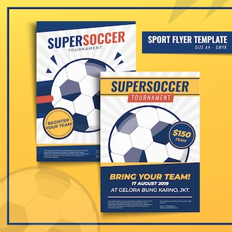 Sport flyer or poster print template