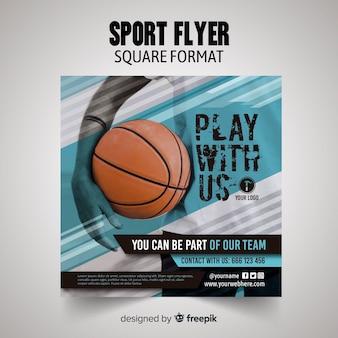 Sport flyer template