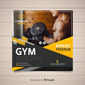 Sport flyer template