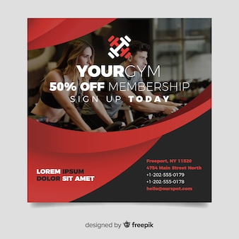 Sport flyer with image template