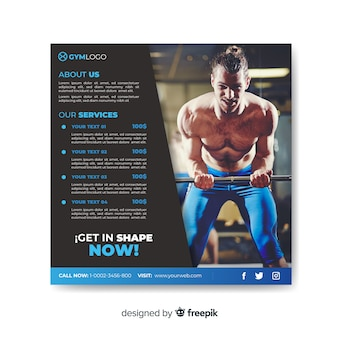Sport flyer with photo
