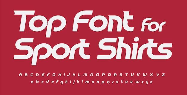 스포츠 글꼴 알파벳 스포츠 셔츠 편지 기울임꼴 라운드 인쇄 상의 디자인 산세리프 패션 편지