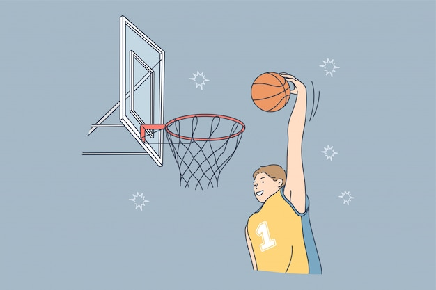 Sport game playing match competition basketball hobby concept