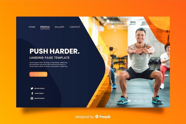 Sport gym landing page