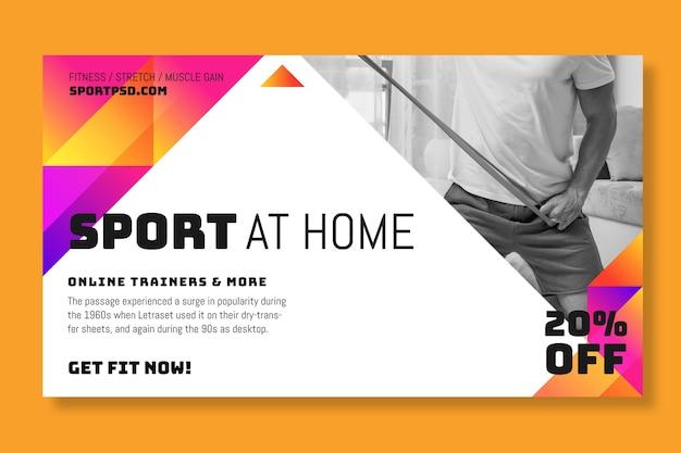 Sport a casa il concetto di banner
