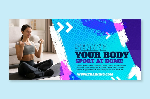 Sport at home banner template