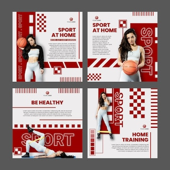 Sport at home instagram posts