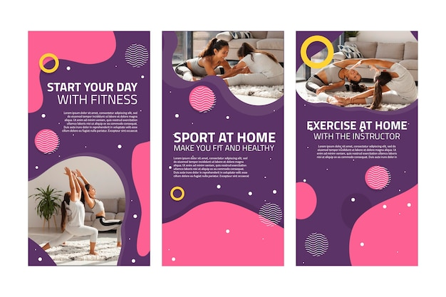 Storie di instagram di sport a casa