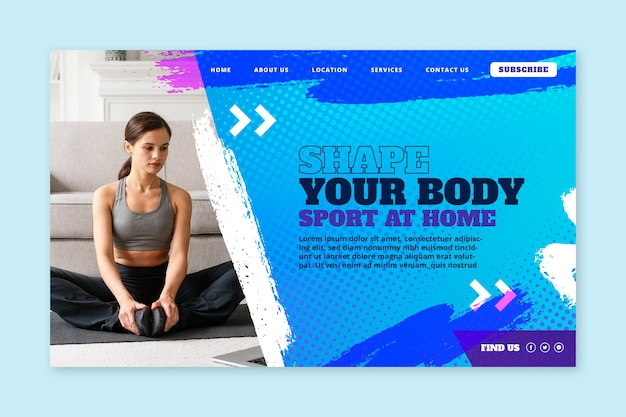 Sport at home landing page template
