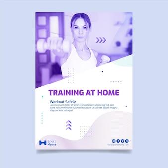 Sport a casa poster modello di progettazione