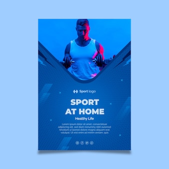 Sport at home poster template