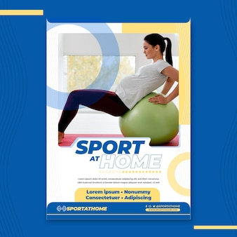 Poster di sport a casa
