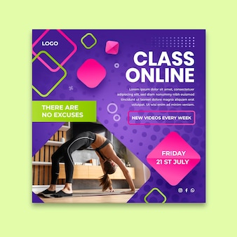 Sport at home squared flyer template