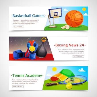 Sport horizontal banners