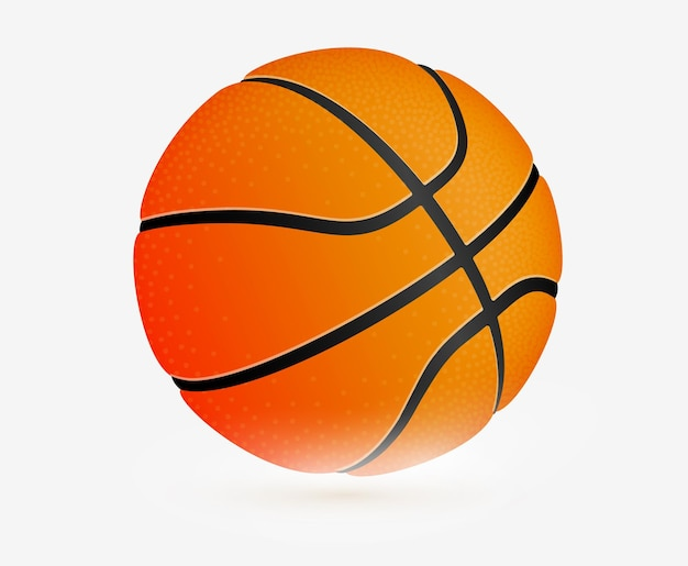 スポーツアイコン。バスケットボールボール、シンプルなフラットテンプレート。