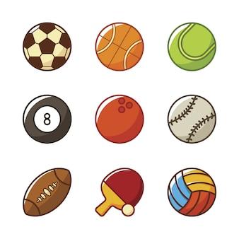Collezione di icone di sport