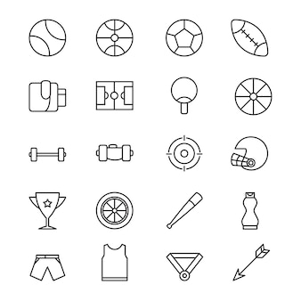 Sport icons in line style design